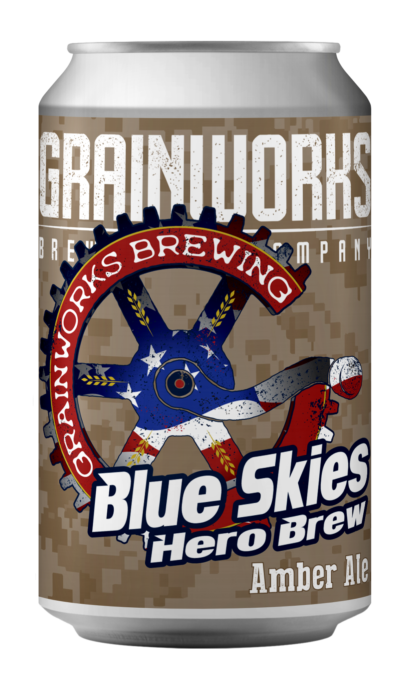 Blue Skies Hero Brew - Can Front (Gold Star Heroes)